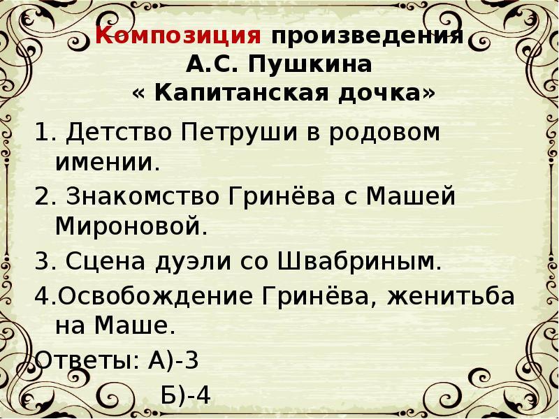 Знакомство Гринёва С Машей Мироновой
