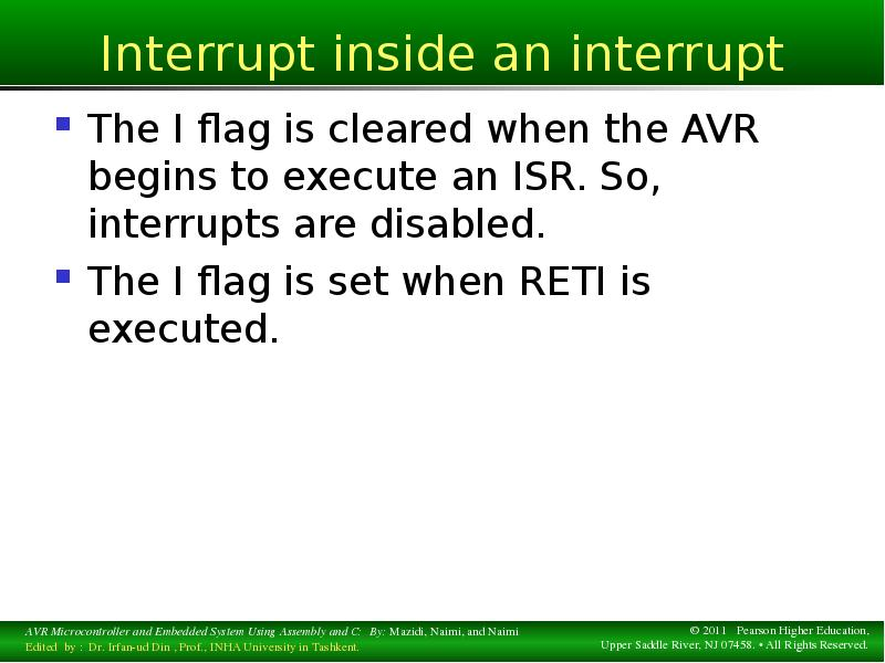 interrupt embedded system Most embedded real-time systems use a priority system as a means of establishing the relative importance of threads in the system there are two classes of priorities: static.