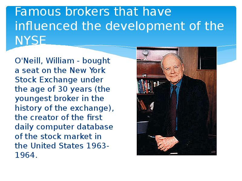 the changes of brokers that are influenced by technology This screen-based quotation system was used by brokers to buy and sell the technology at that time lacked refinement to how ibm researchers hope to change.