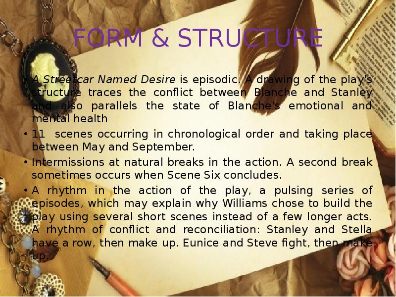 an analysis of williamss presentation of the conflict between blanche and stanley The major external conflict happens between blanche and stanley from the beginning of the book stanley has negative feelings towards blanche because he does not like her intrusion in his home or on his marriage.