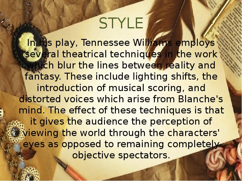 an overview of the reality and imagination in a streetcar named desire by tennessee williams Monkeynotes study guide summary-400+ free it also hides the reality of her departed youth monkeynotes-a streetcar named desire by tennessee williams.