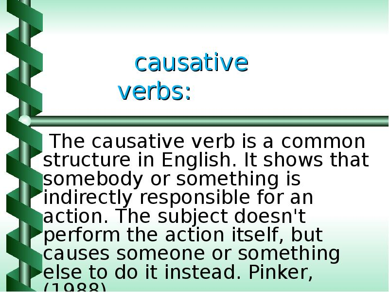 causative verb