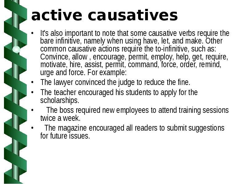 causative verb
