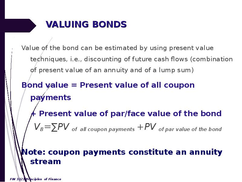 bond and value Bond value or price example 1 how much would an investor pay to purchase a bond today, which is redeemable in four years for its nominal value or face value of $100 and pays an annual coupon of.