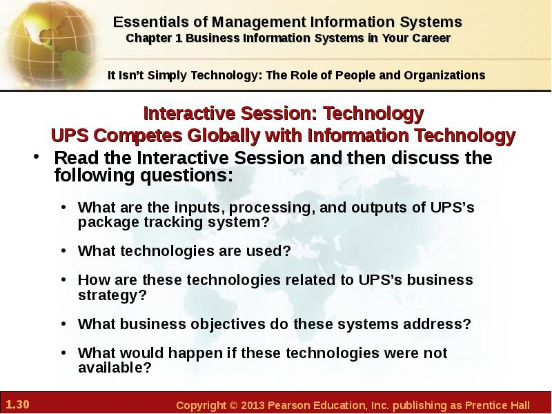 what strategic business objective do ups information systems address Systems in achieving ups' strategic business objectives two videos case united parcel service's global operations are driven by its information systems technology.