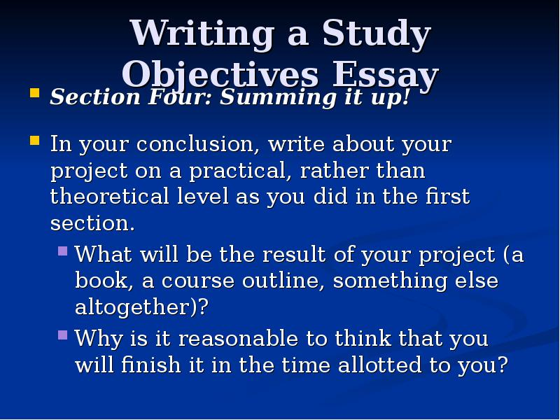 essay about your studies