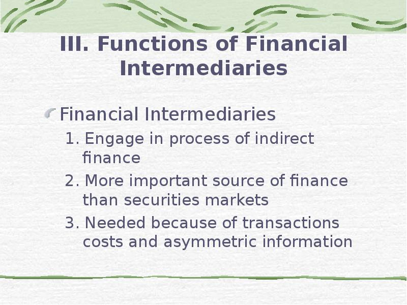 describe the various types of financial markets and the types of transactions supported by each mark The four main types of financial statements are statement of  financial statements reflect the financial effects of business transactions and events on the.