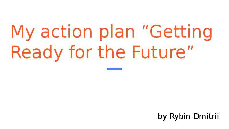 my action plan