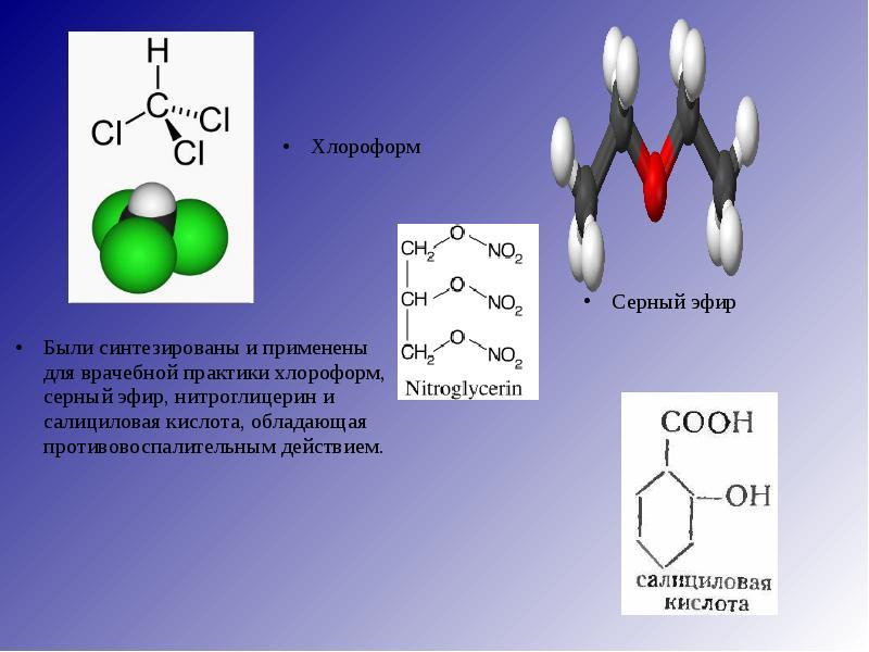 synthesising nitroglycerin