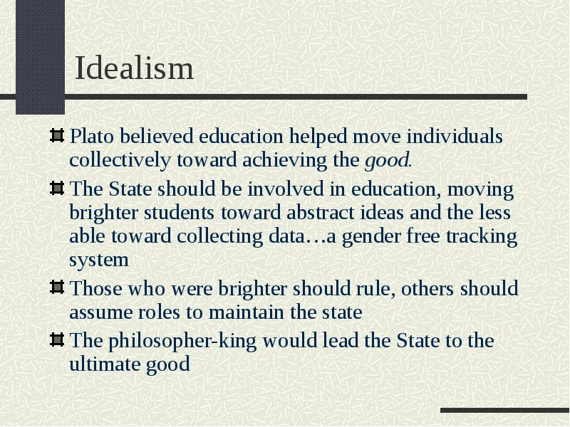 the philosophical view of education and its impact on students Edu 656 philosophical and social foundations personal philosophy of education and related lesson plan impact upon what students will do as teachers and.