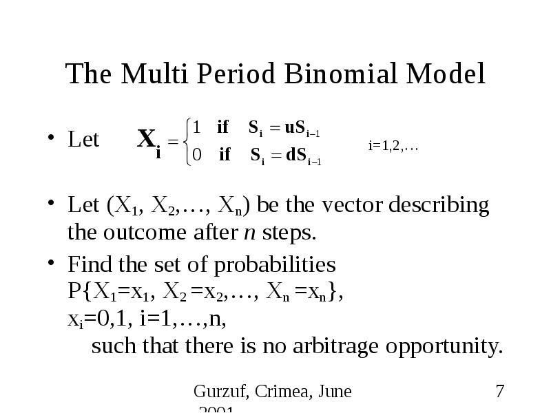 optimization of the standard binomial option pricing model The binomial option pricing model is essentially a binomial tree which shows possible values that an underlying asset or stock initial stock price can take, and the resulting value of the option price at each individual stage of the asset the main idea of the tree is constructed by assuming that the.