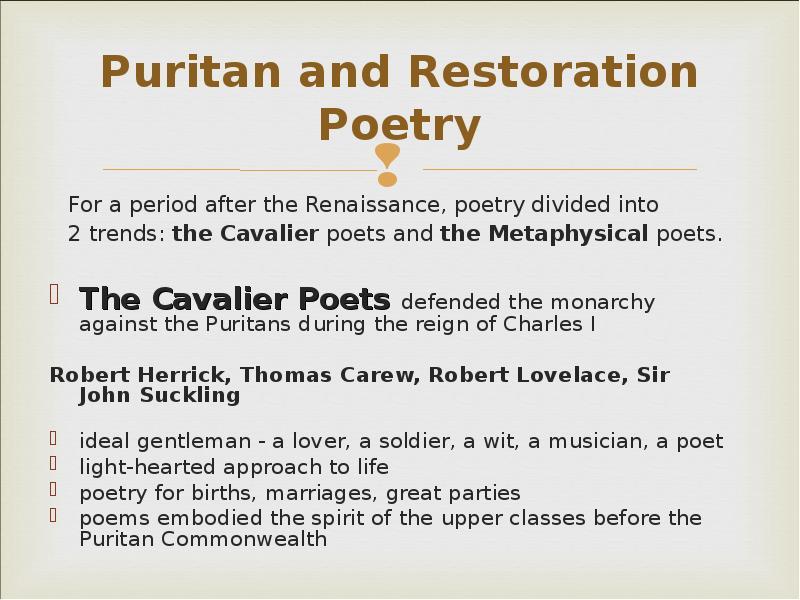 the trends of puritan literature
