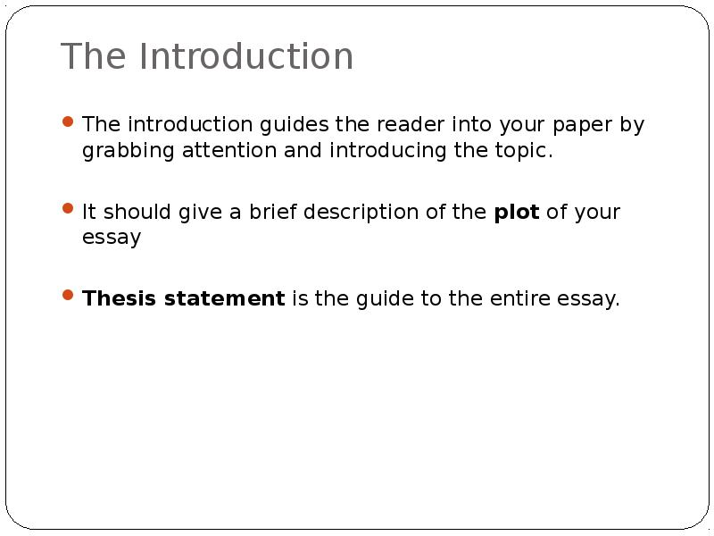 what to write on the introduction of an essay Write the introduction last (and other crazy ideas) even though the introduction is the first thing your audience reads, the introduction doesn't have to if you're still not sure if you know how to write an essay introduction that works, why not have one of our kibin editors take a look at your paper.