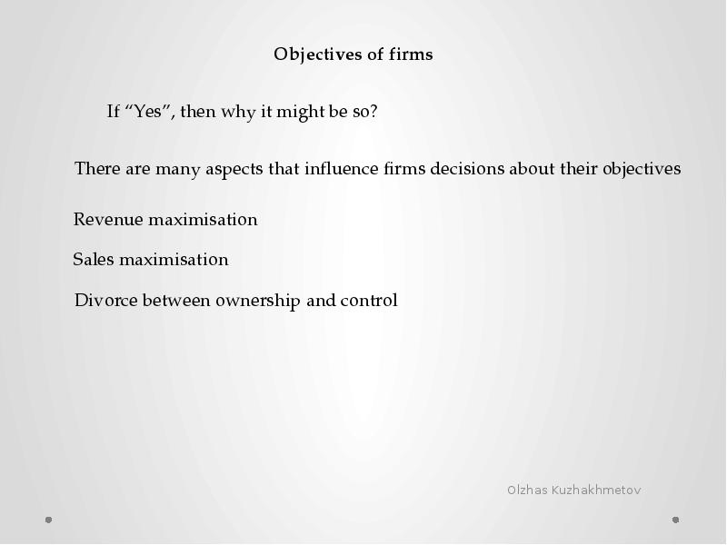 objectives of firms essay Read this essay on evaluate whether profit maximisation is always the most important objective of firms (25 marks) come browse our large digital warehouse of free sample essays.