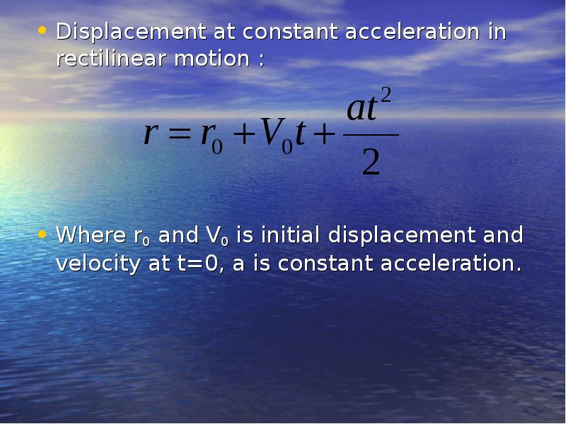 physics acceleration and constant velocity Free online physics calculators and velocity equations velocity calculator v = u + at this calculator does assume constant acceleration during the time.