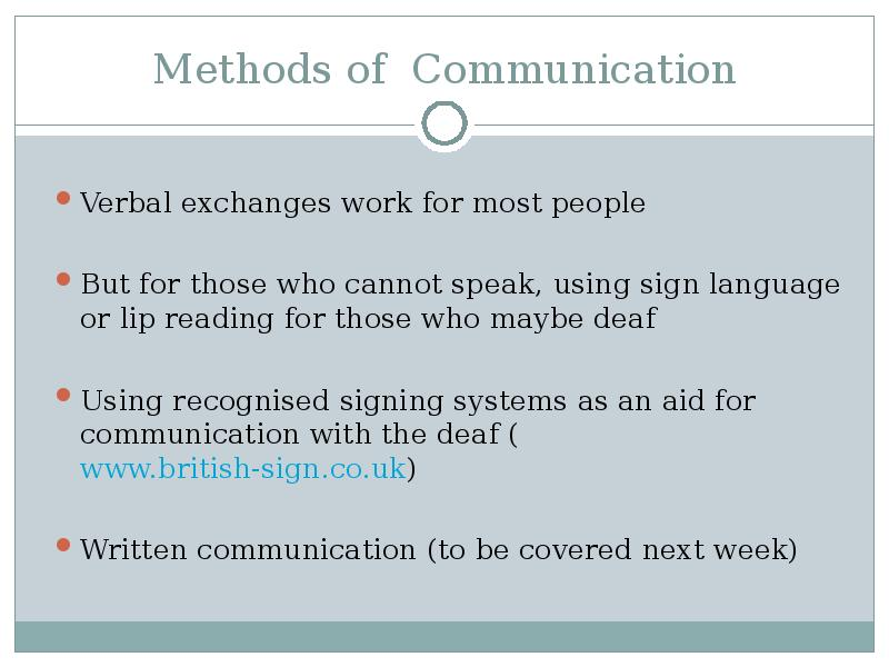 communication methods External communication includes messages from an organization to stakeholders outside the company, via such media as television, radio, print and digital tools the goal is to build awareness and.
