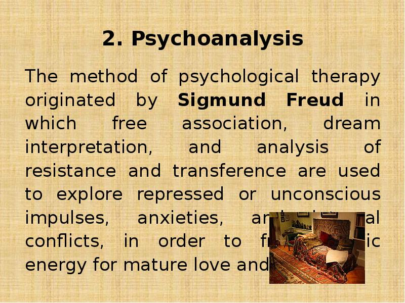 an analysis of freuds methods of psychoanalysis Analysing dreams & evaluating theories psychoanalysis methods mental health comes from uncovering unconscious desires and dream analysis can be.