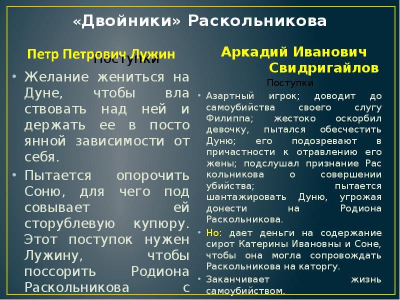 Знакомство лужина раскольникова первое и