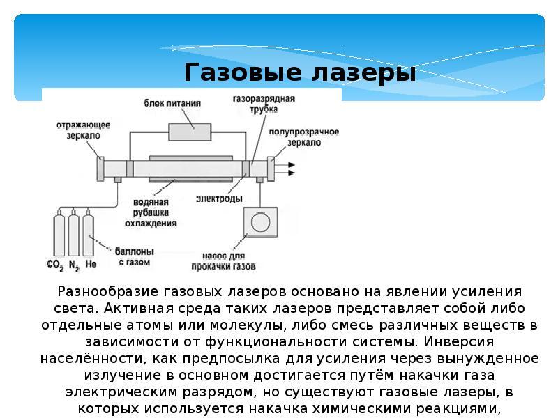 Газовый лазер, лазер с газообразной активной средой.