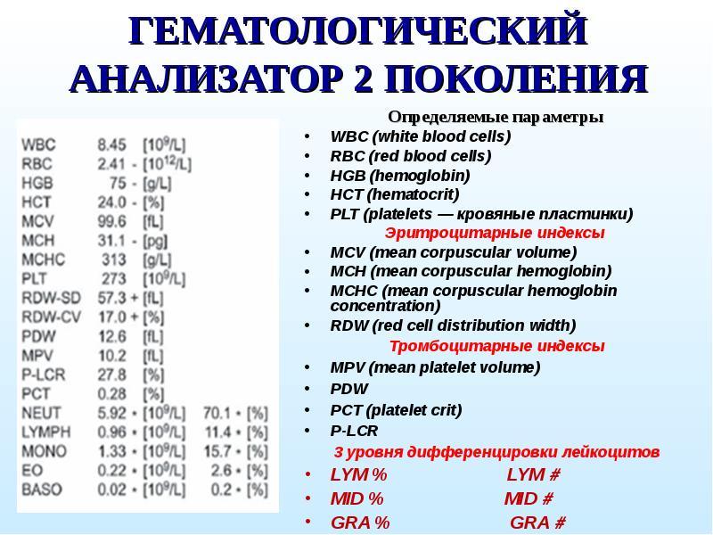 Анализ крови rbc-red blood cells abl90 flex анализатор крови