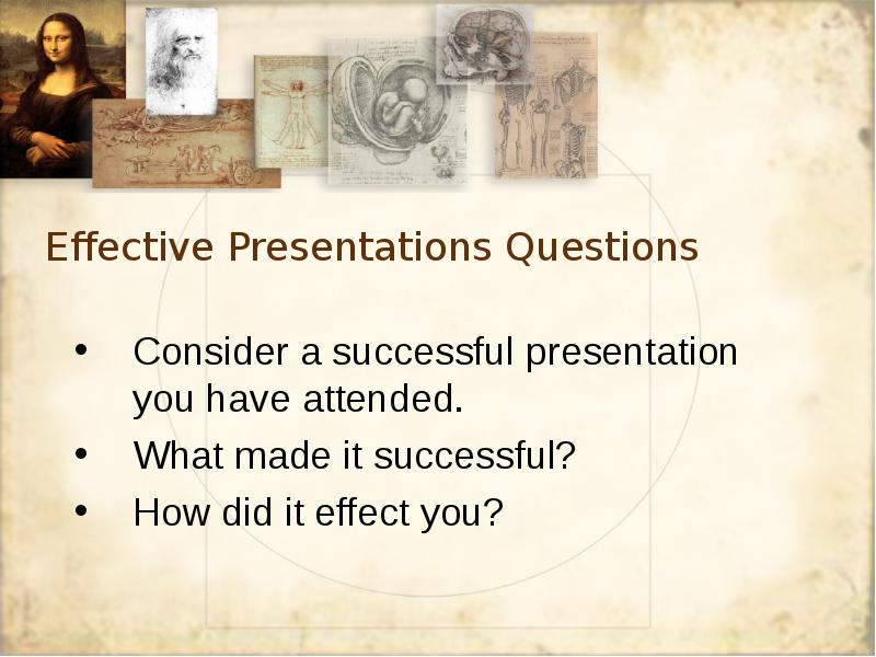 making a successful presentation First, a presentation should be all about new information that you want to share second, you need to find a way to share that information the right way, in order to increase the demand for your product if you follow the steps below, you'll make a successful presentation.