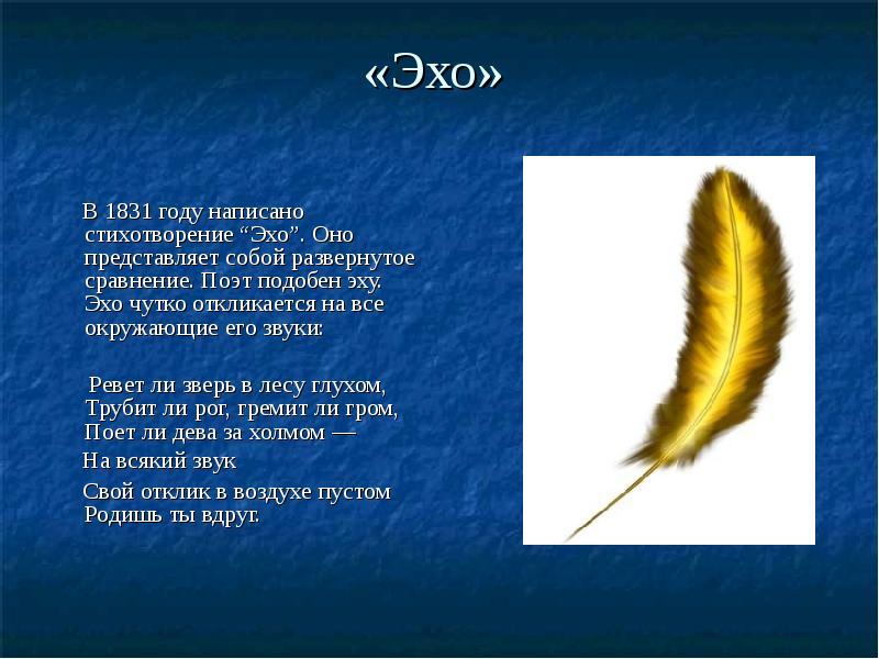 Картинки из стихотворения эхо
