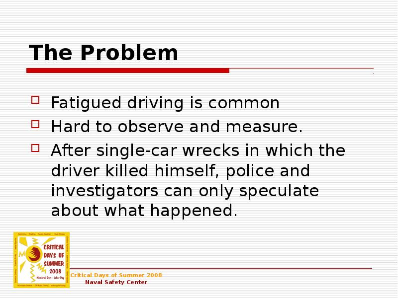 an overview of the driver fatigue It's essential to ensure that your drivers are both compliant and safe learn how our predictive modeling system uses existing data to identify risk factors.