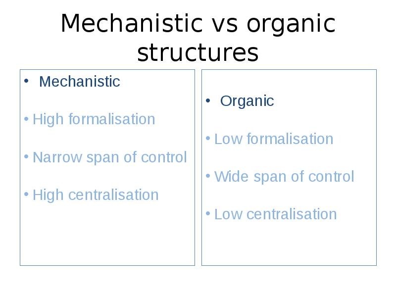 mechanistic organic structure