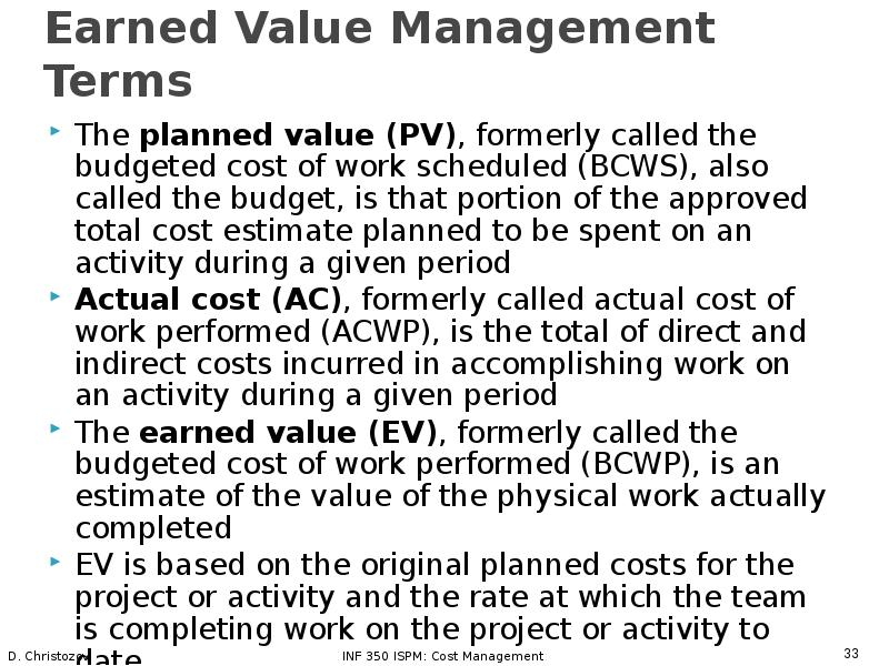 the importance implementation and features of evm on the cost and value management of a project mana Find and save ideas about project management courses on pinterest earned value management (evm) the project mana best project management tool.