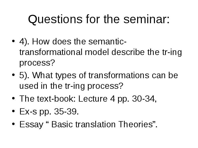 3101afe seminar questions from seminars 4
