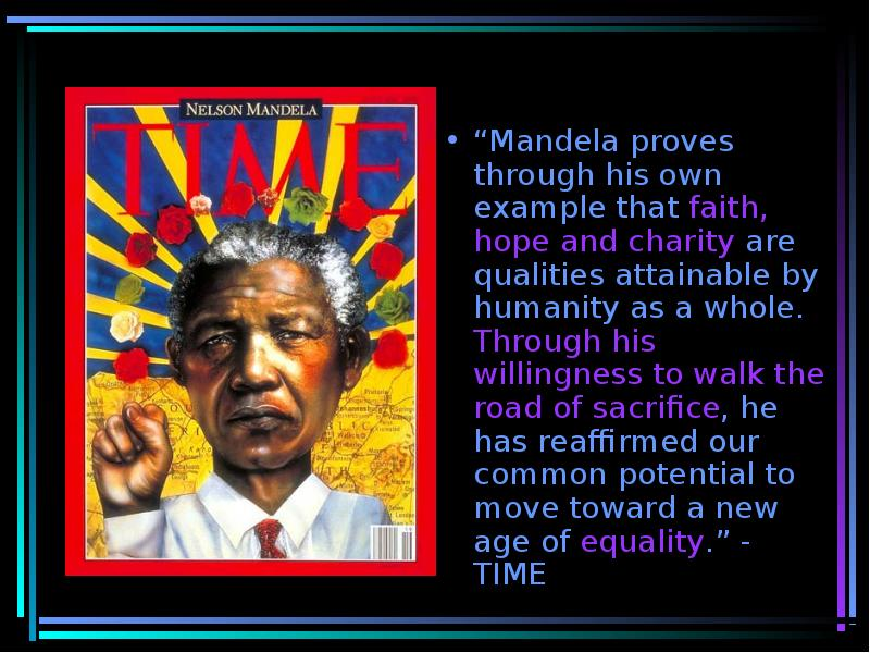 summary nelson mandela s inaugural speech glory and hope Nelson mandela knew his dream was evolving right before his eyes during his inauguration speech mandela was grateful to see that south africa made a way for themselves by working together we, us, our, signifies togetherness, teamwork, and a common goal.
