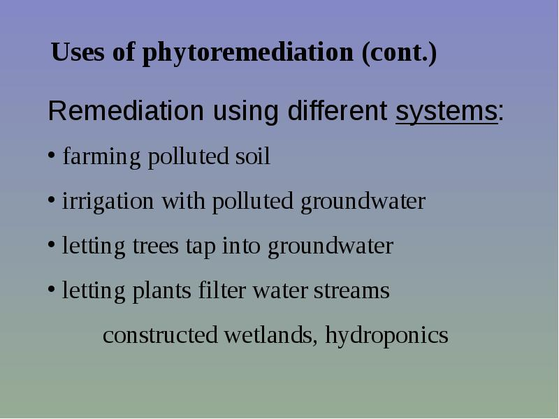 phytoremediation insuring safe selenium levels essay Silent spring - 50th anniversary an essay pond that had previously been contaminated with high levels of selenium crayfish burrows as safe.