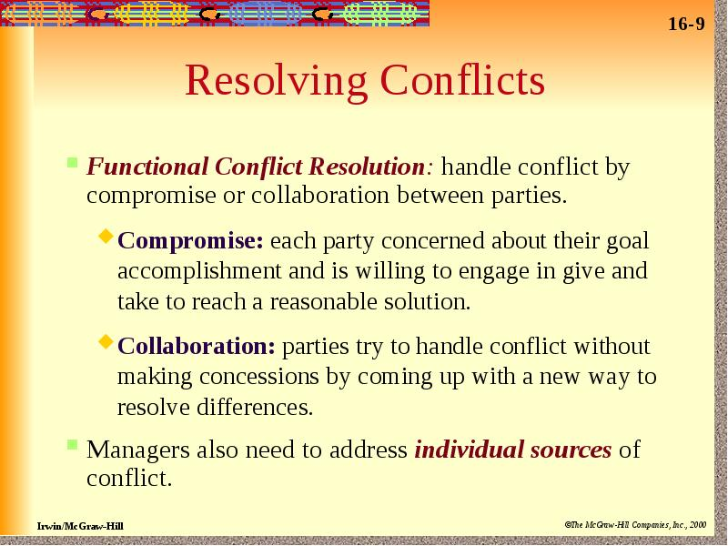 conflict negotiation situation contending yielding inaction problem solving or compromising 6 characteristics of a negotiation situation 1 two or more parties involved • it involves two or more individuals, groups or organizations 2 conflict of needs & desires • what one party wants is may not be what the other wants 3 voluntary process • negotiators negotiate by choice • believe that they.