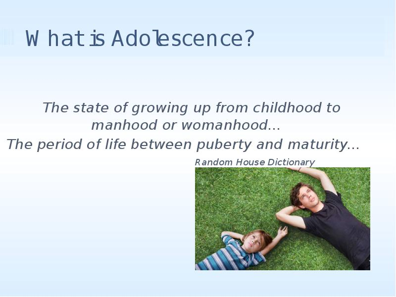 an analysis of the period of adolescence The characterization of adolescence as a time of storm and stress remains an open debate intense and frequent negative affect during this period has been hypothesized to explain the increased rates of affective disorders, suicide, and accidental death during this time of life yet some teens.