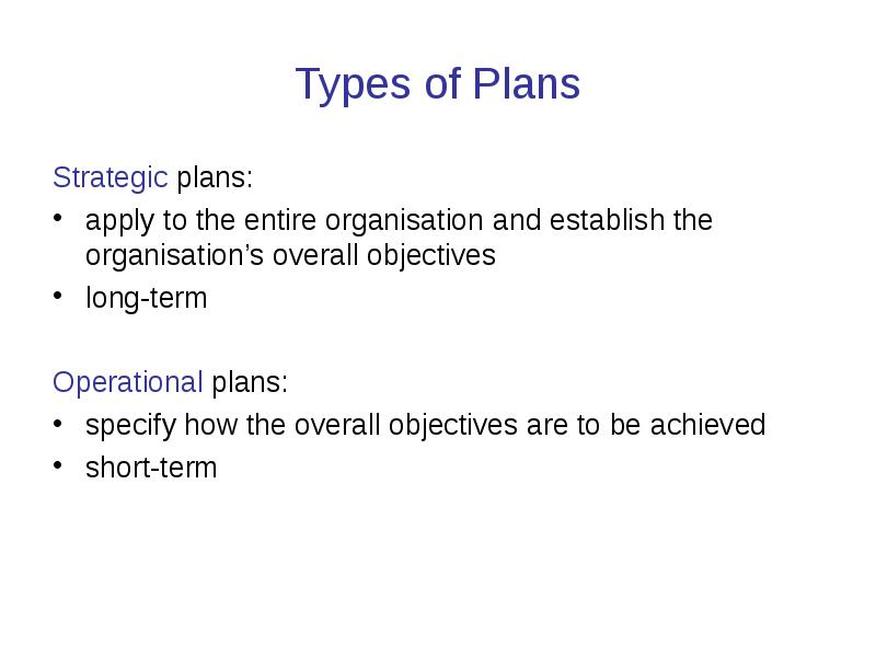 advantages of planning A strategic plan is an organization's roadmap that leads to the future there are many professionals who call strategic planning long-term planning.