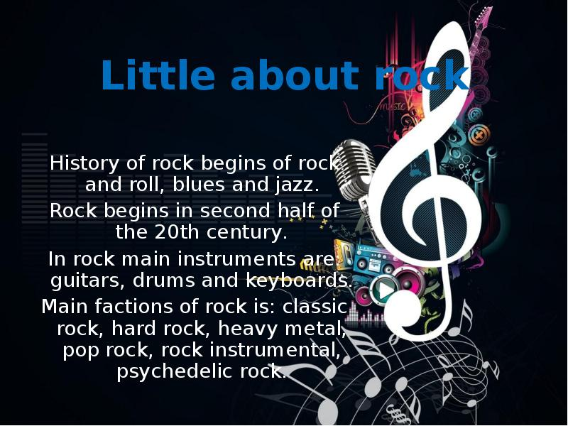 the development of the rock musical in Rock music is a genre of popular music that entered the mainstream in the 1950s it has its roots in 1940s and 1950s rock and roll, rhythm and blues its immediate origins lay in a mixing together of various popular musical genres of the time, including rhythm and blues, gospel music, and country.