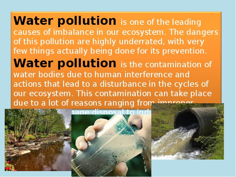 water pollution with sollution