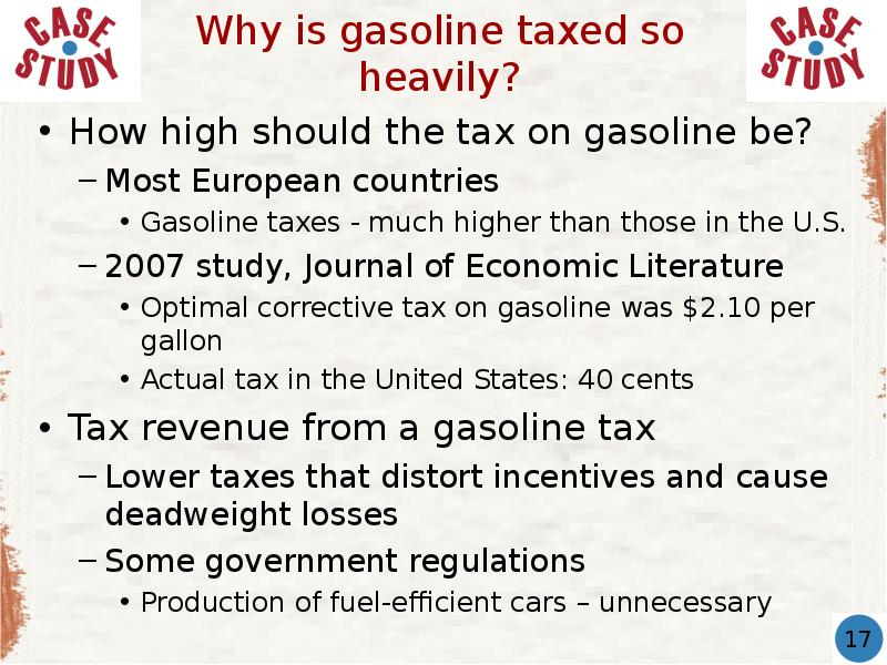 indirect taxes on petrol should be However, like indirect taxes, direct tax forms a significant part of an economy's taxation system it is crucial to bring social equality and justice within an economy, without putting additional burdens on the poor but in direct taxes, there is always a high risk of tax evasion and corruption.