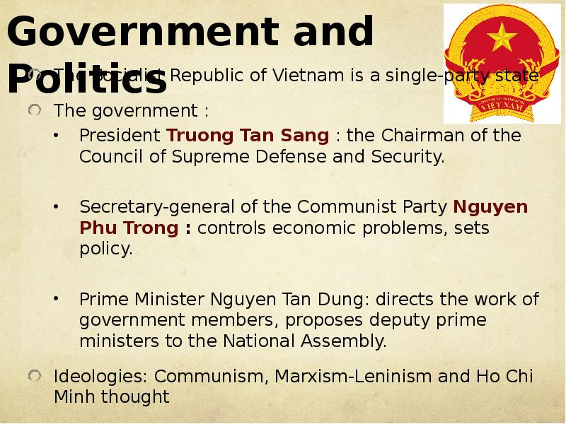socialist republic of vietnam essay Vietnam the socialist republic of vietnam is located in central southeast asia it is bordered on the west by cambodia and laos and on the north by china.