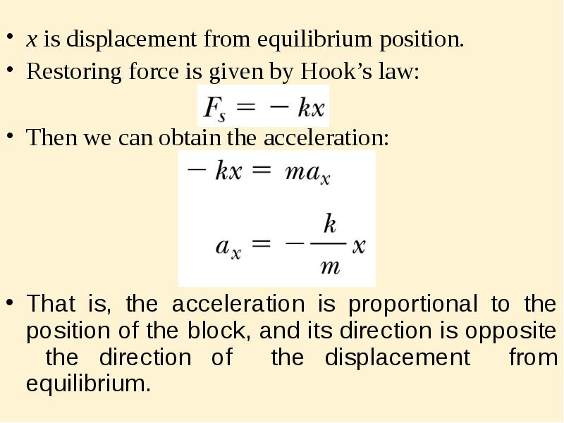 a lab involving the concept of hookes law and the idea of simple harmonic motion • state and use hooke's law and recall and use the expression force = constant × extension (f = k x) • recognize the significance of the term 'limit of proportionality' for an extension.
