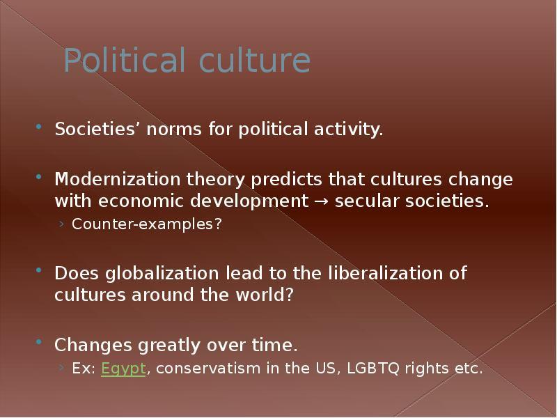 political culture change