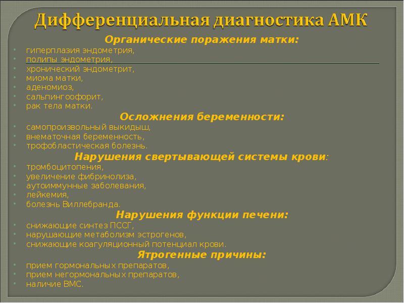 Нарушения менструальной функции - презентация, доклад, проект