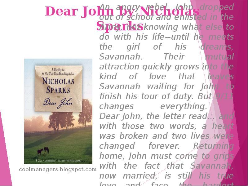 nicholas sparks dear john