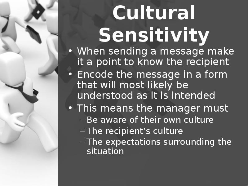 cultural sensitivity at the workforce crucial Cultural awareness is the next stage of understanding other groups -- being open to the idea of changing cultural attitudes cultural sensitivity is knowing that differences exist between cultures, but not assigning values to the differences (better or worse, right or wrong.