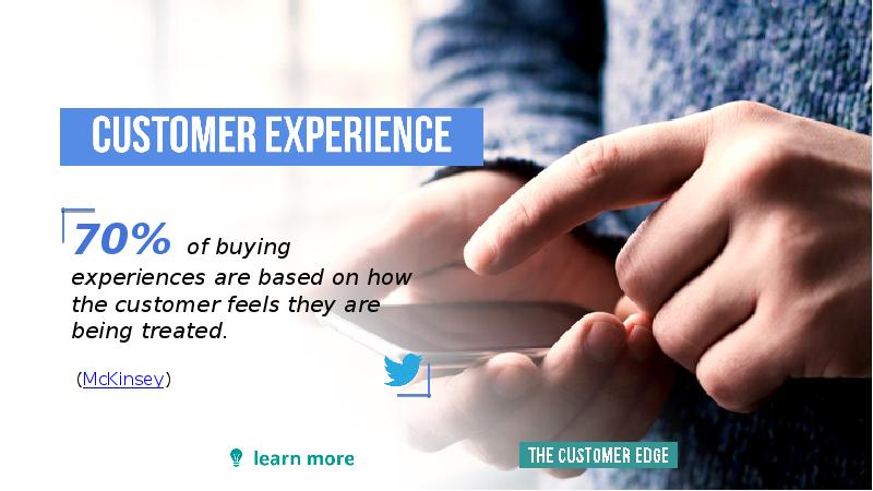 the future of customer experience and Customer experience is the new battleground for brands 89% of organizations compete primarily on experience, and 95% tell others about a bad experience by now, brands large and small realize that the experience they provide their customers will play a pivotal role in their ability to survive.