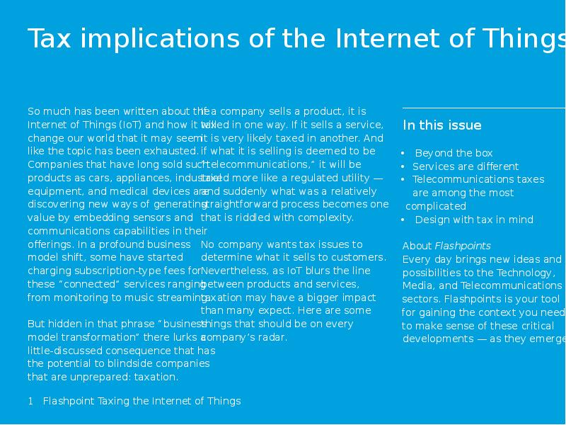 the issue of taxing the internet
