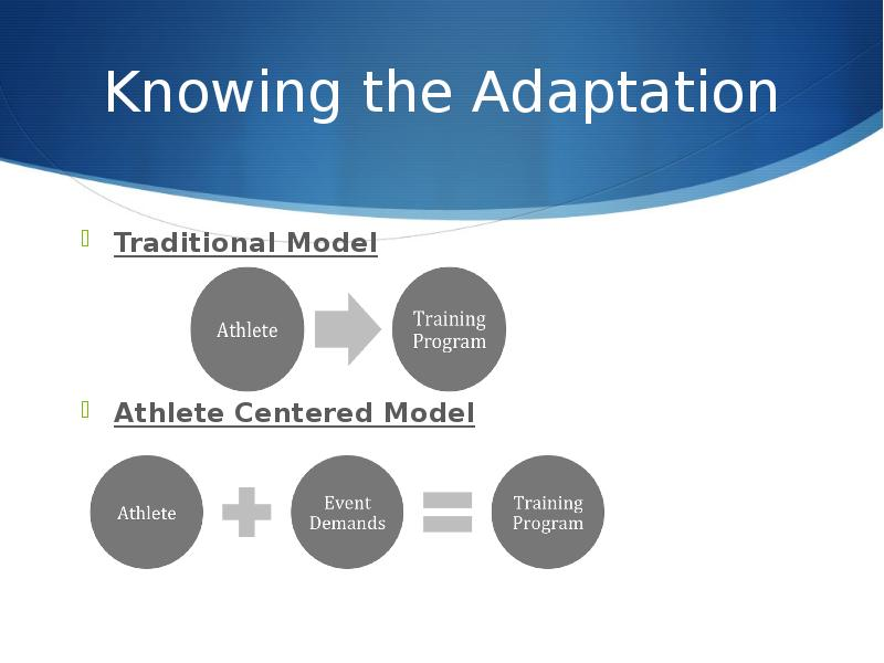 the adaptations of the human body after endurance training When an athlete undergoes sprint training, their body becomes more accustomed to buffering this lactic acid and gets more efficient at maintaining a proper ph balance summary so, one of the big factors that occurs during sprint training is adaptations to one's metabolic system.