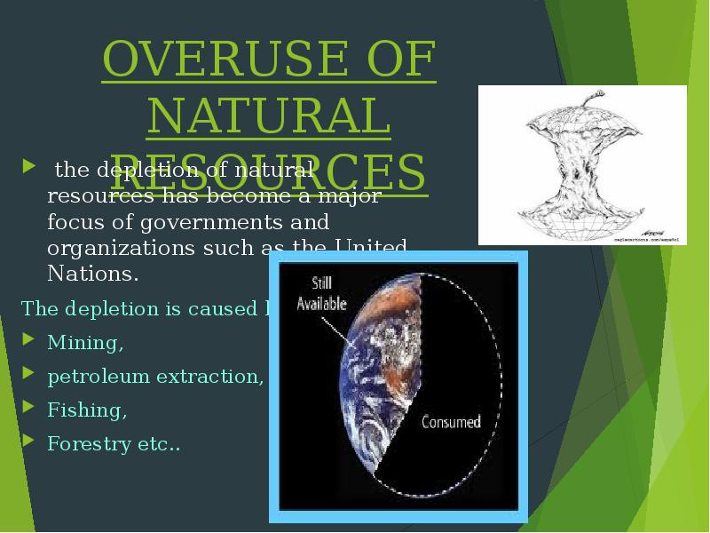 the importance of natural resources and the risk of depletion Natural resources were historically an important condition of the successful development of countries the disparity in the access to natural resources predetermined, to a significant extent, the.