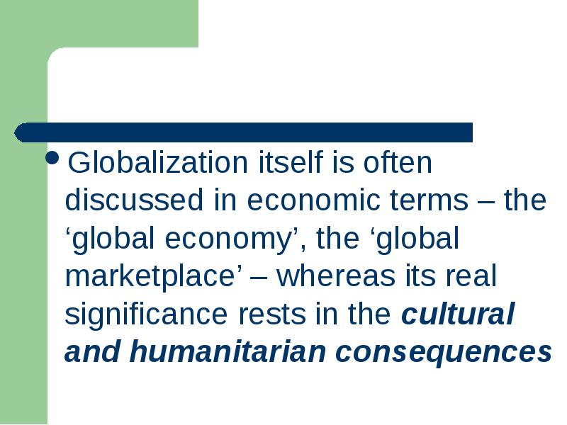 economic consequences of globalization