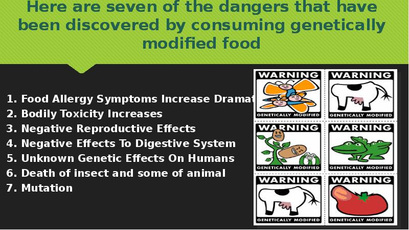 negative effects of genetically modified foods on human health